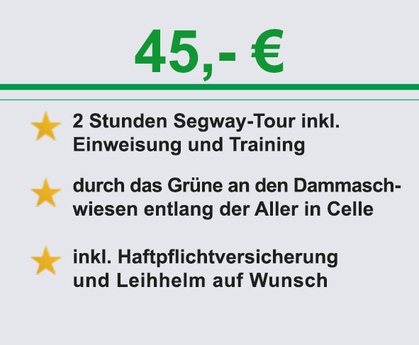 Info segway celle gruene Tour