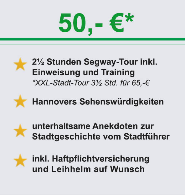 Info segway hannover stadt Tour